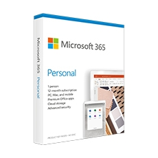 Microsoft 365 Personal 1-Yr Subscription